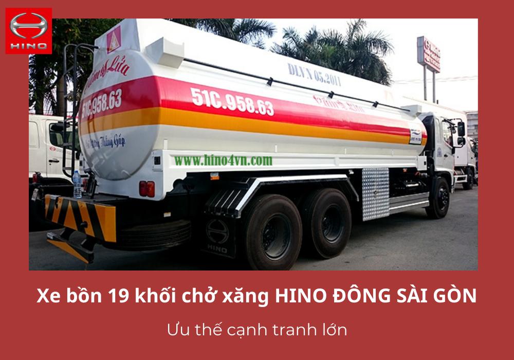 Xe bồn HINO Đông Sài Gòn - Ưu thế cạnh tranh cao trên thị trường
